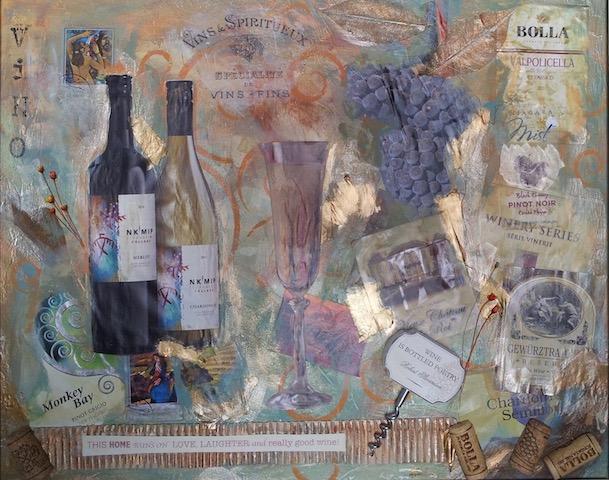 Wine Art Collage