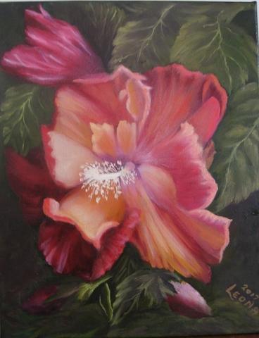 Hibiscus flower art