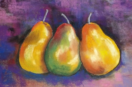 Donelle Dreaper - 3 Amigos- 12x14 Pastel, framed $250