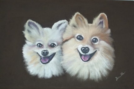 Donelle Dreaper - Honey and Winnie - 16x20 Pastel NFS