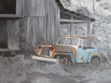 Antique car art