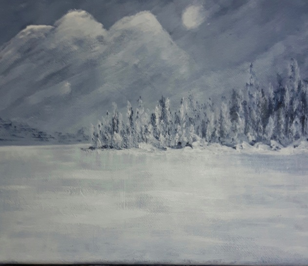 Claudia Nicholson - Winter Memories 8x10 Acrylic $45