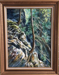 "Honorable mention of other 3 members that were tied in votes for the opportunity of draw for Linda Becker Award. Judy Mackenzie's ""In the Canyon"""