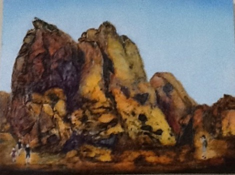 "Val Chipman Valley of Fire 12x16"" Acrylic NFS"