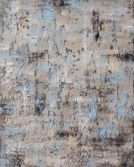 "Claudia Nicholson - Rain - 24 x 30"" Acrylic and gesso, NFS"