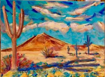 Shadowy Arizona Landscape