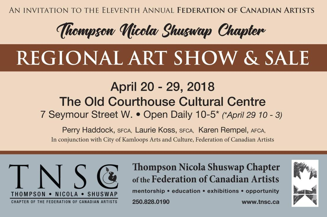 Federation of Canadian Artists TNSC Chapter – Annual Art Show and Sale