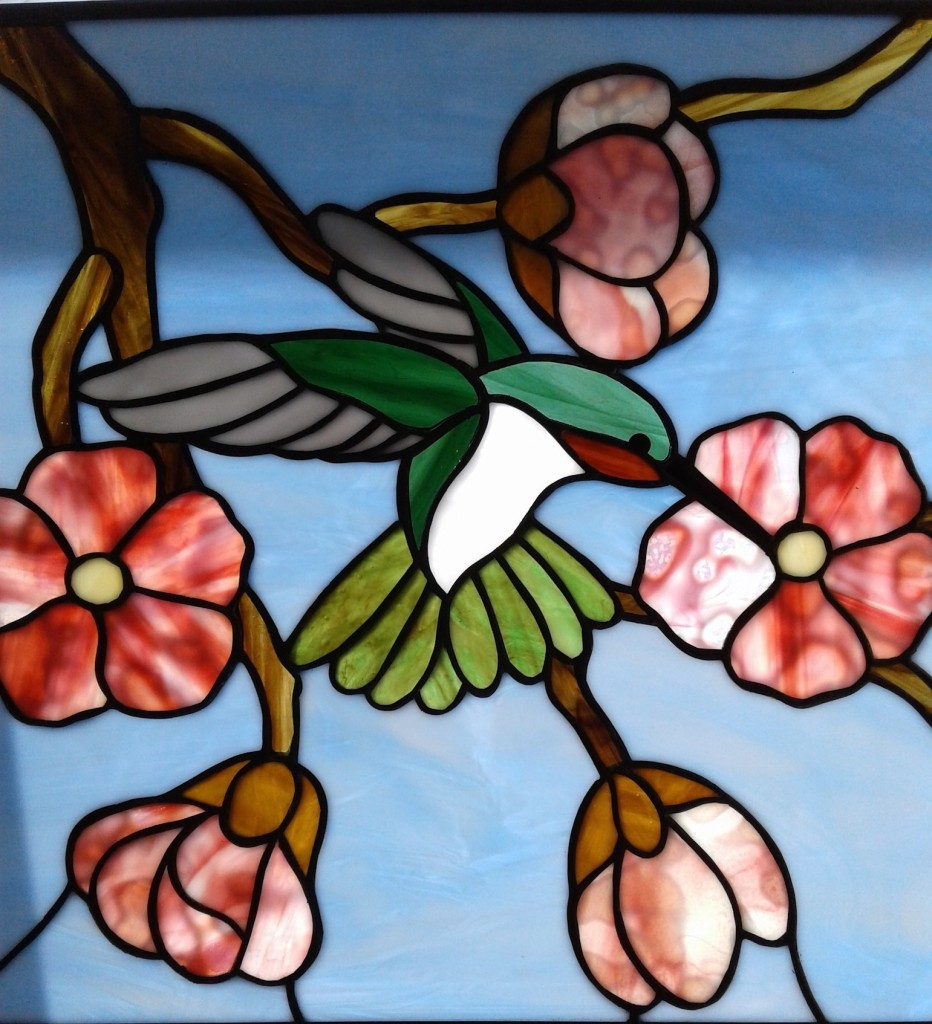 Stained Glass Floral Art