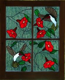 Stained Glass Bird Art