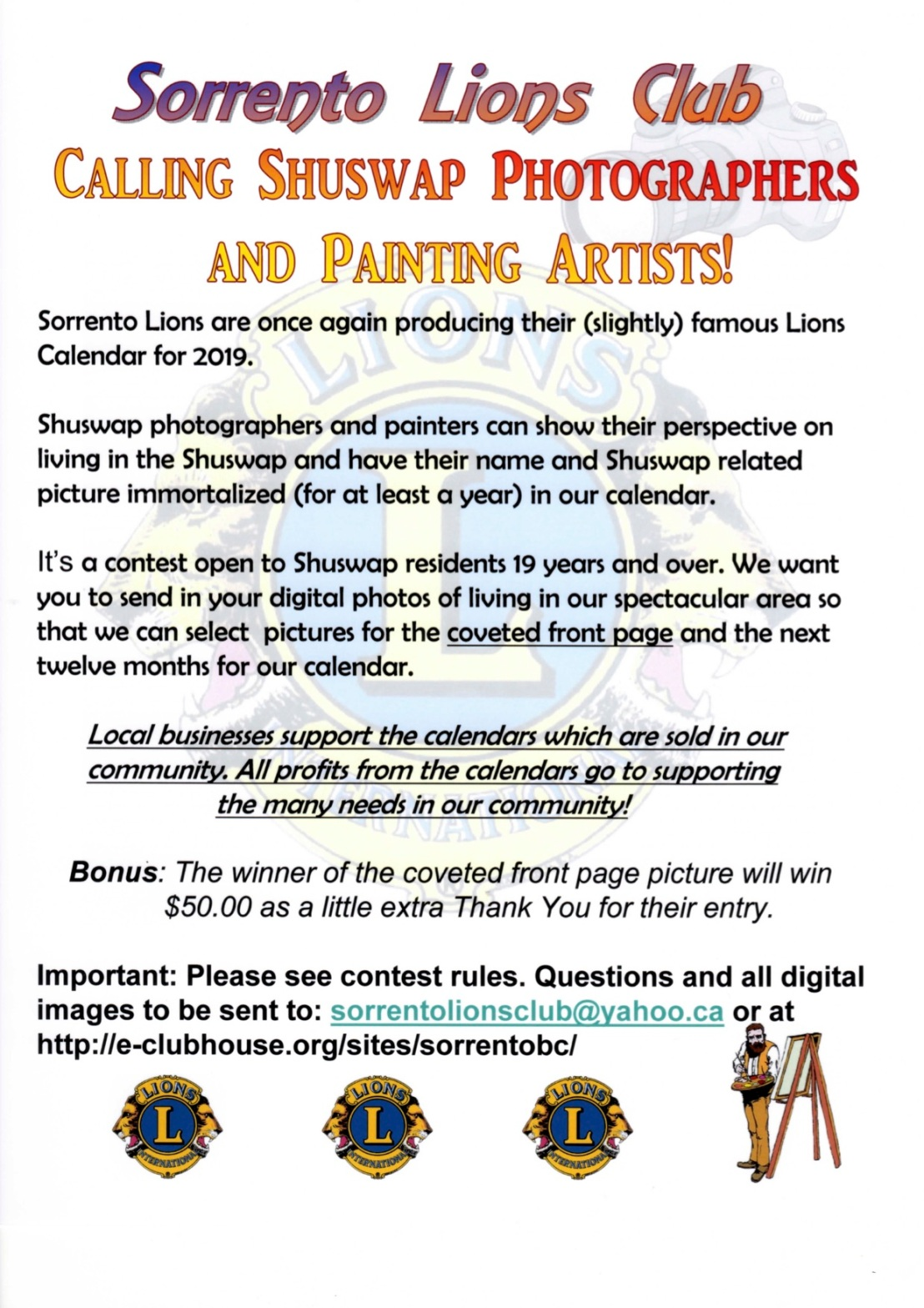 Sorrento Lions Club Photo Contest