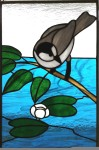 Stained Glass Grey Jay