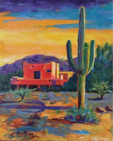 Betty Schriver - Arizona Winter - 16x20 gallery wrap canvas, NFS