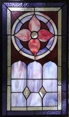 """Mitch Milgram -Formal Victorian Flower 15"""" x 22"""" Stained Glass $215"""