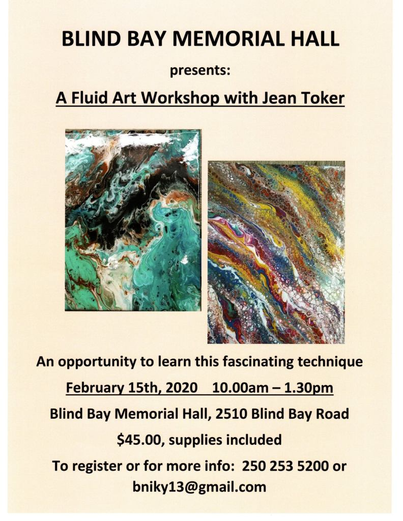 Fluid Art Workshop with Jean Toker