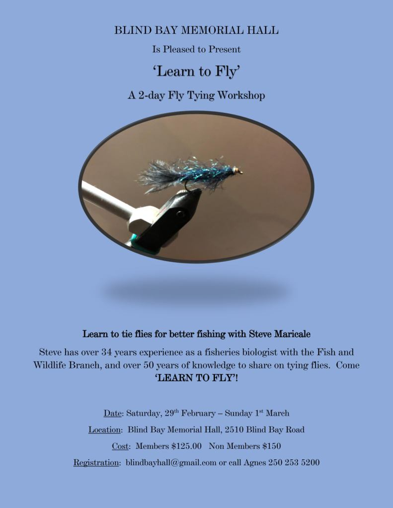 Learn to Fly - Two Day Fly Tying Workshop