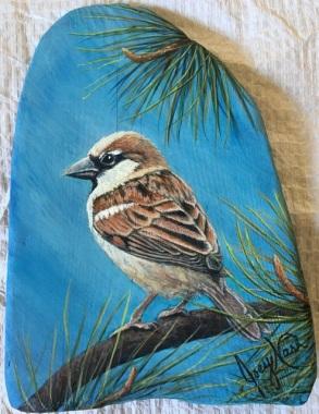 Wildlife Art on Driftwood