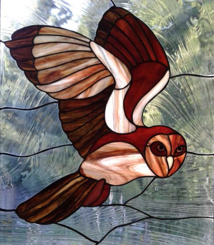 Stained Glass Barn Owl