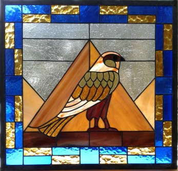 Stained Glass - Egyptian Hawk