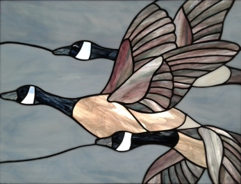 Stained Glass Geese